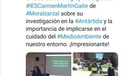 Conferencia COP25 Instituto Carmen Martín Gaite. Moralzarzal